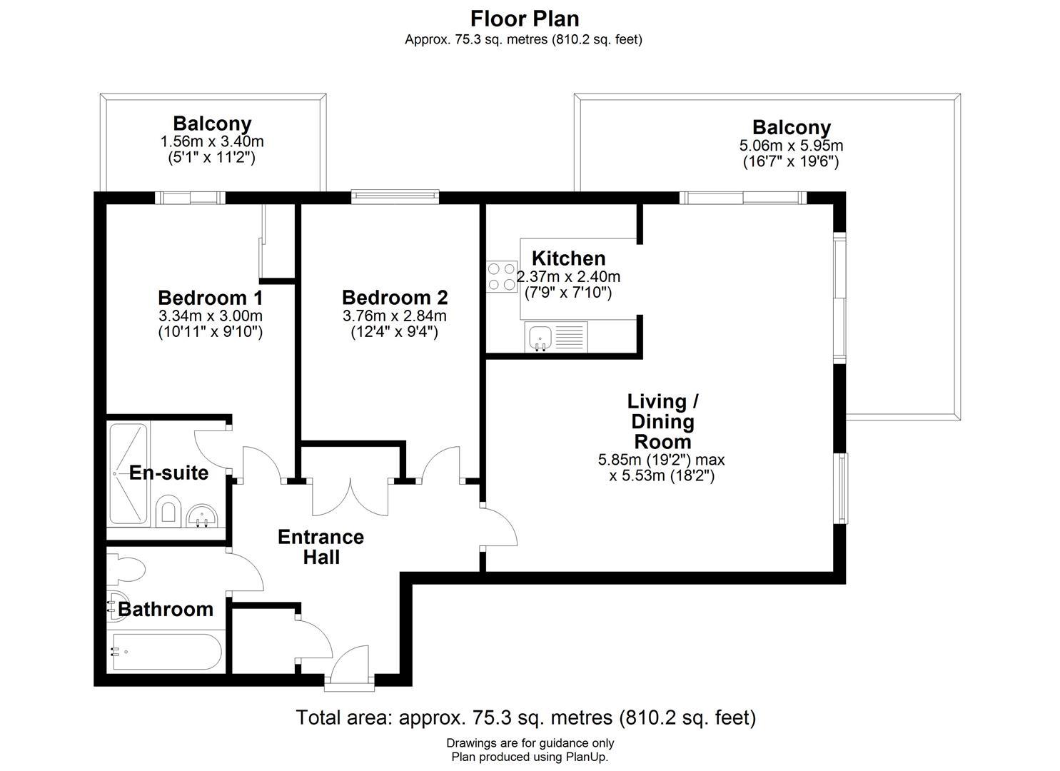 Floor plan Kingsley Walk, Cambridge